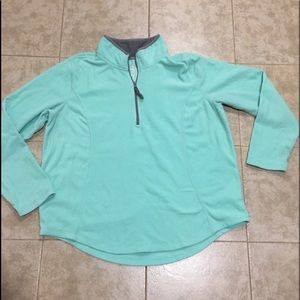 Jackets & Blazers - Mint colored fleece pull over